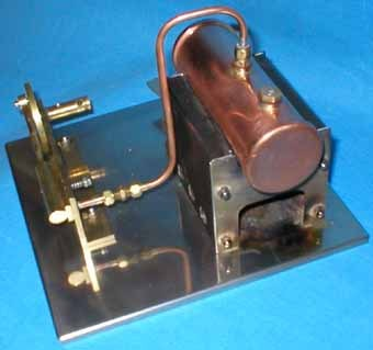 There are some more pictures of this simple steam engine available and
